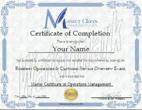 business management certification course certificate of