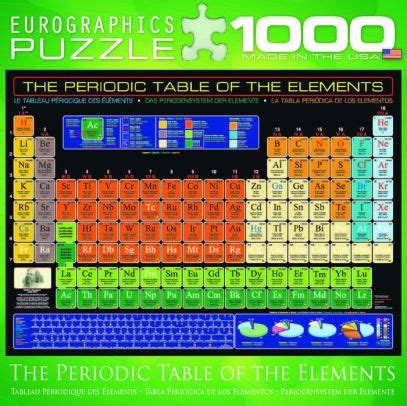 1000 images about periodic table of elements on pinterest periodic table of elements 1000 pc puzzle 628136081108