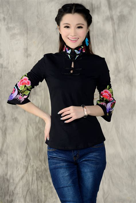 Blouse Yukaa 2016 new arrival style shirt sleeve