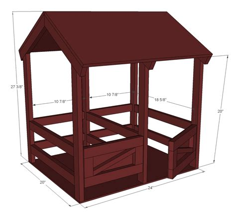 american girl doll furniture plans ana white horse stables for american girl or 18 quot dolls