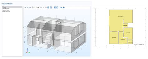 geometric house plans efficiently study noise distribution in a house with an app comsol blog