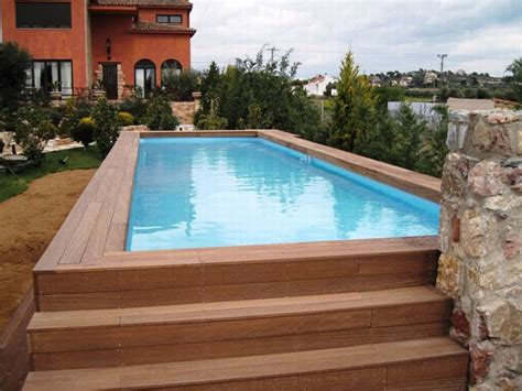 above ground pools prices small backyard landscaping ideas swimming pool rectangular above ground pool with wooden