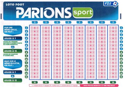 Nouvelle Grille Loto Foot by Loto Foot 5 Heureux Gagnants 224 300 000