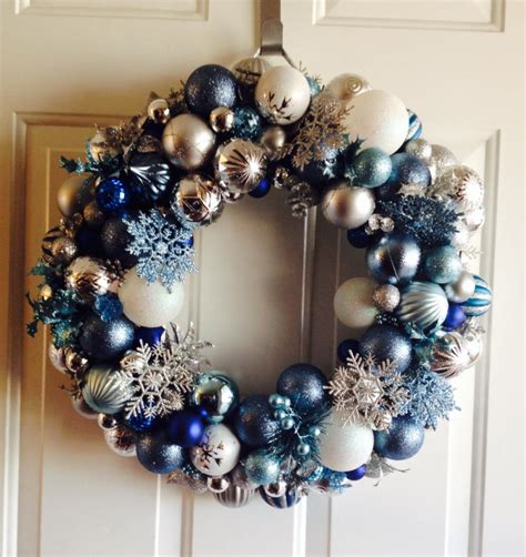 hometalk how to make a frozen inspired ornament wreath