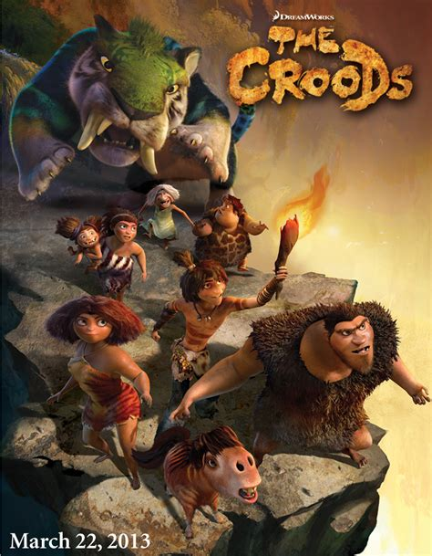 film cartoon the croods poster art for dreamworks cgi animated movie the croods