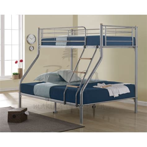 Cheap Metal Bunk Beds Cheap Birlea Nexus Sleeper Silver Metal Bunk Bed For Sale With Or Without Mattresses