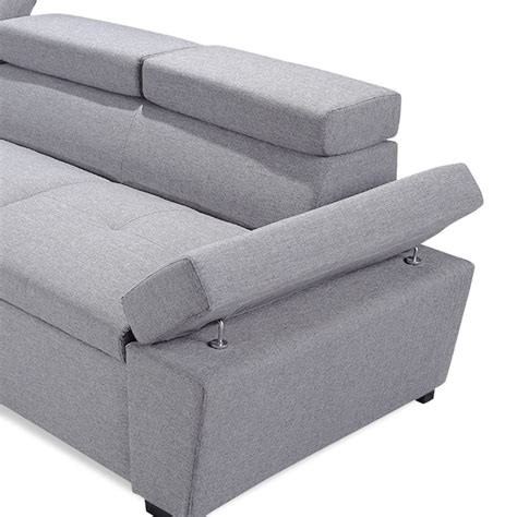 Canapé D Angle Convertible 5 Places by Canap 233 D Angle Convertible 5 Places Quot Quot 255cm Gris