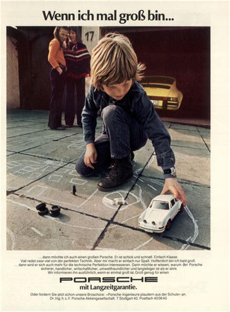 Autowerbung Kinder by Werbung Damals Porsche Club F 252 R Den Klassischen 911