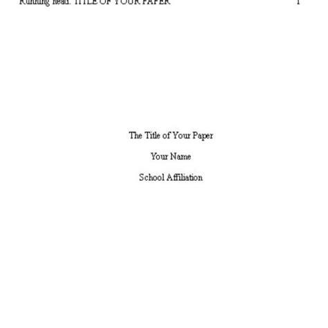 title apa format cover page exles best photos of apa style title page title apa format cover