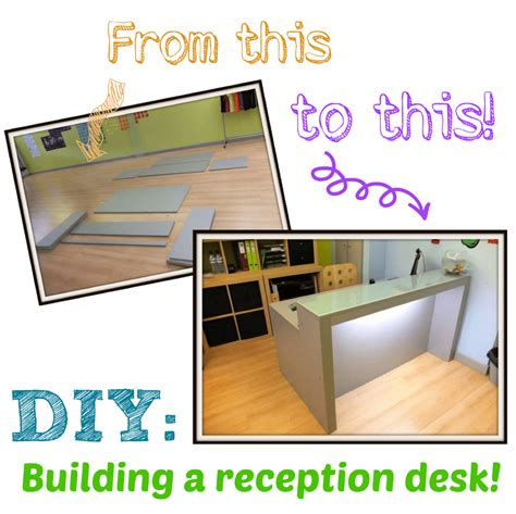 how to build a reception desk diy building a reception desk something on everything