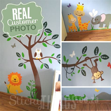 Nursery Wall Stickers Jungle safari jungle nursery wall sticker stickythings co za