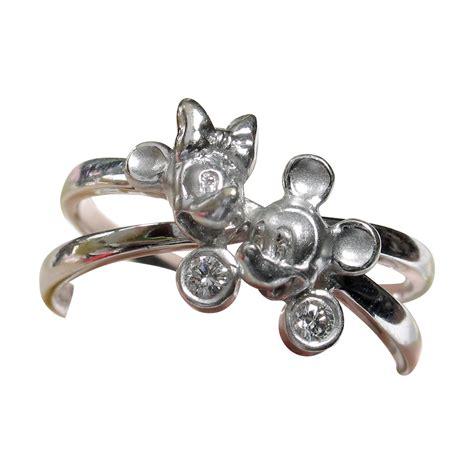 disney mickey minnie 18k ring unique