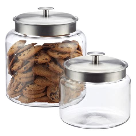 glass canisters kitchen anchor hocking montana glass canisters the container store