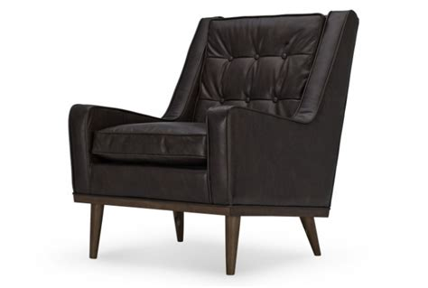 retro style armchair scott retro style armchair in vintage brown premium