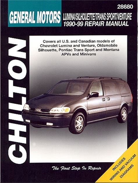 lumina silhouette trans sport montana repair manual 1990 1999