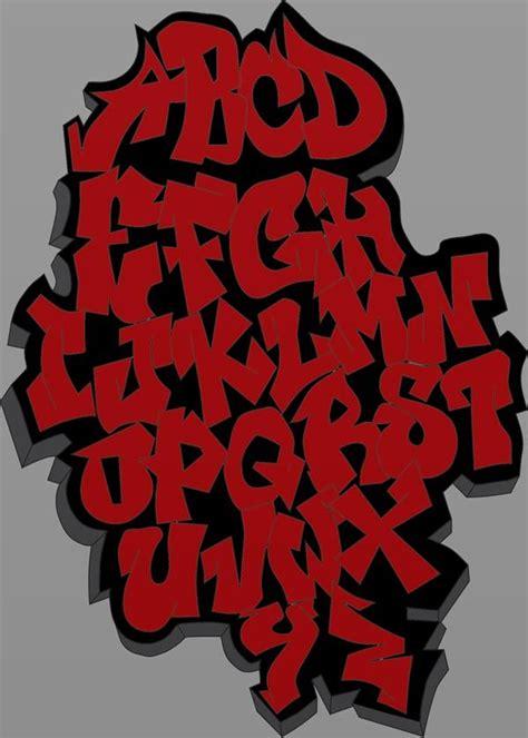 red graffiti alphabet graffiti lettering graffiti