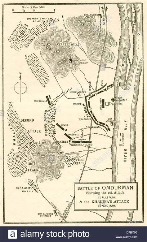 omdurman map map of the battle of omdurman khartoum sudan 1898