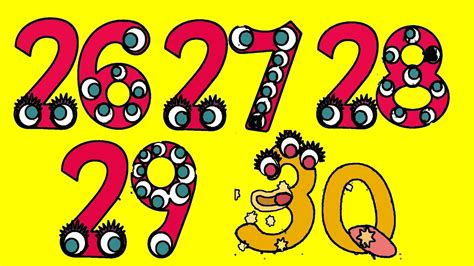 numbers 1 to 26 0769647898 let s count 26 27 28 29 30 preschool learn numbers 1 to 100 for kids and toddlers endless