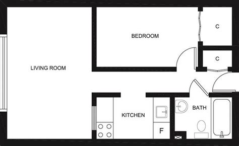 floor plan for bachelor flat centretown apartments 218 maclaren clv