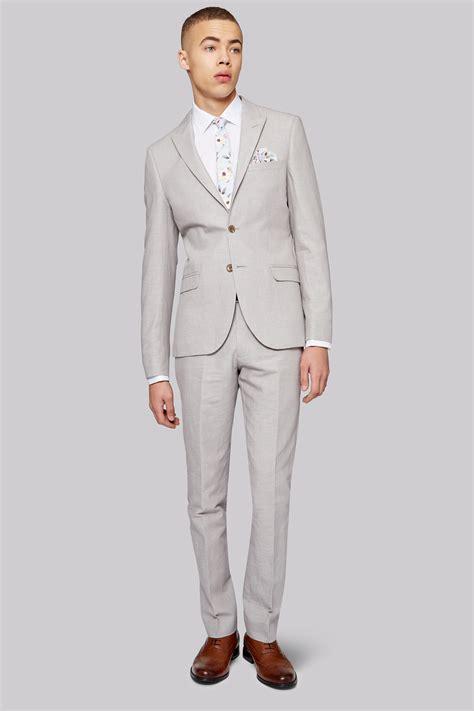 light grey 3 piece suit moss london mens slim fit light grey linen 3 piece suit ebay