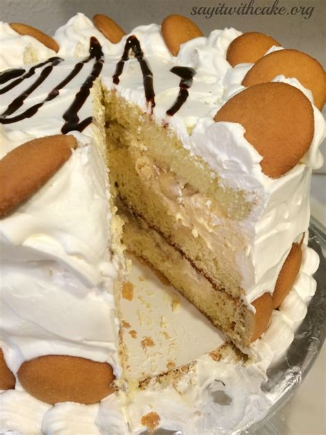Puding Cake banana pudding layer cake say it with cake