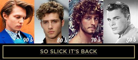 hairstyles through the decades men s hairstyles through the decades