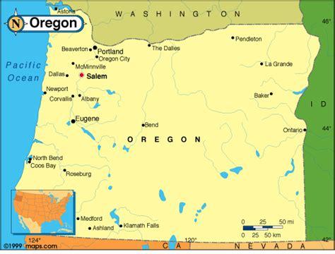 a political map of oregon oregon map and oregon satellite images