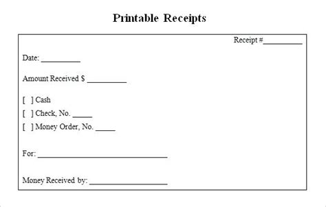 receipt template in printable format free printable receipts viqoo club