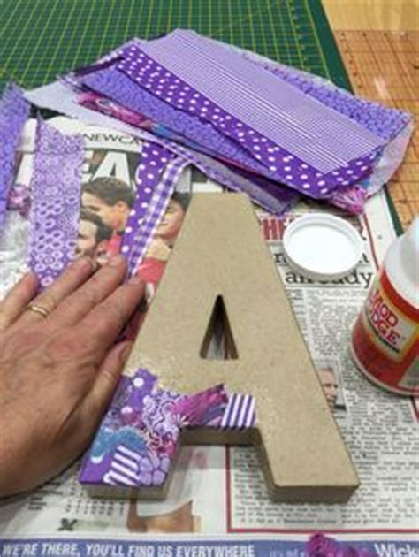 How To Decoupage Cardboard Letters - 25 best ideas about decoupage letters on
