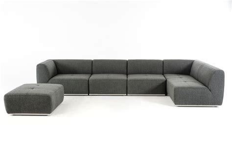 home divani casa hawthorn modern grey fabric sectional
