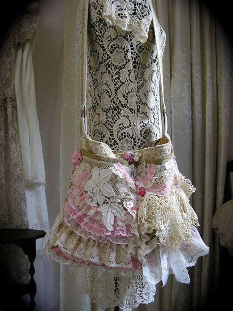 shabby cottage bag shabby n chic romantic ruffles lace