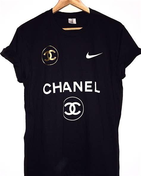 Nike Get T Shirt chanel nike black t shirt s boutique