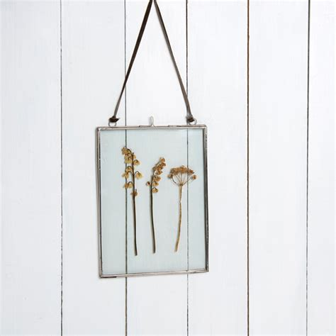 frame hanging glass hanging frame in silver 15x20cm rex london at dotcomgiftshop