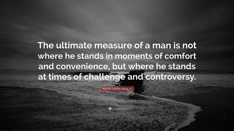Martin Luther King Jr Quote The Ultimate Measure Of A
