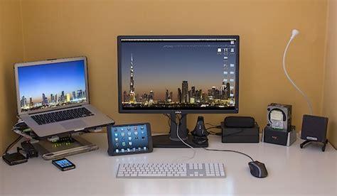 macbook pro desk setup apple setups