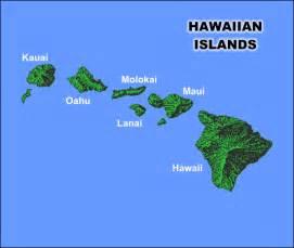 hawaii map and hawaii satellite image