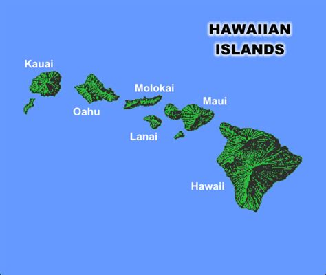map of hawaii islands hawaiian islands places and spaces