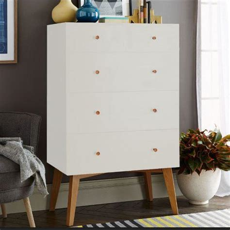 modern white tall dresser tall storage 5 drawer white dresser