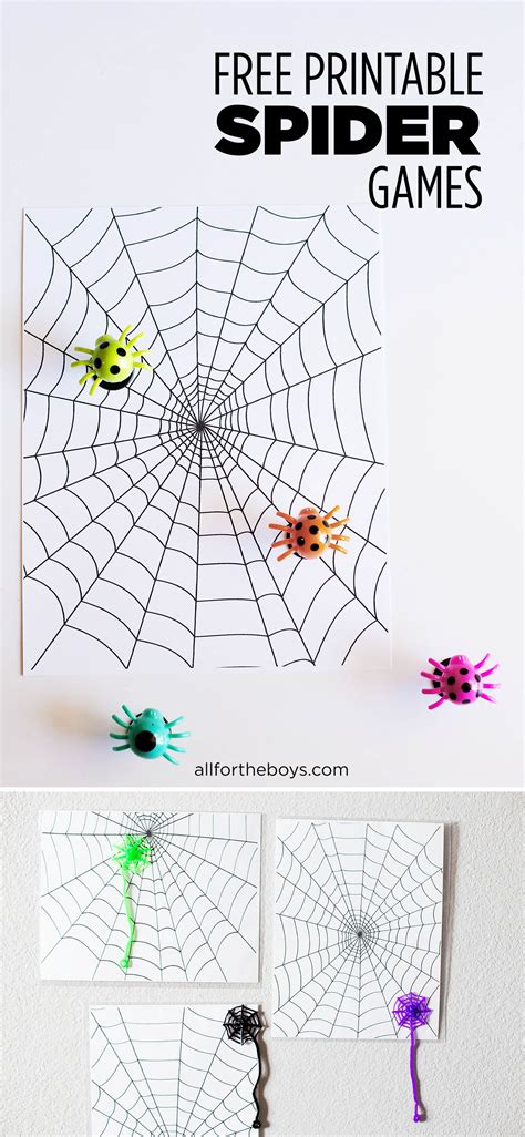 printable games to play at home printable spider games all for the boys