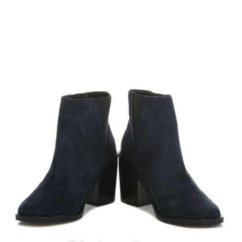 womens navy blue boots shellys womens ankle boots casual shoes navy blue