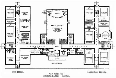 floor plans for school buildings consolidated school jpg 800 215 540 architecture