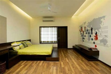 bedroom  wooden flooring  false ceiling  milind