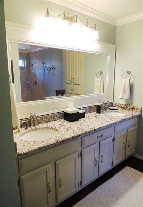 Framed Bathroom Mirrors Diy Diy Framed Bathroom Mirror Fix It Up