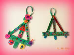 popsicle stick christmas tree ornaments christmas crafts