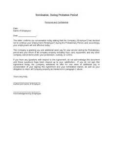 probationary period template sle letter termination employment during probationary