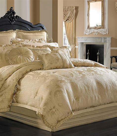 gold bed comforters j queen new york napoleon jacobean floral medallion