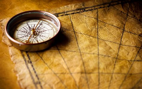Nautical Chart Wallpaper by Compass On Old World Map Wallpapers And Images