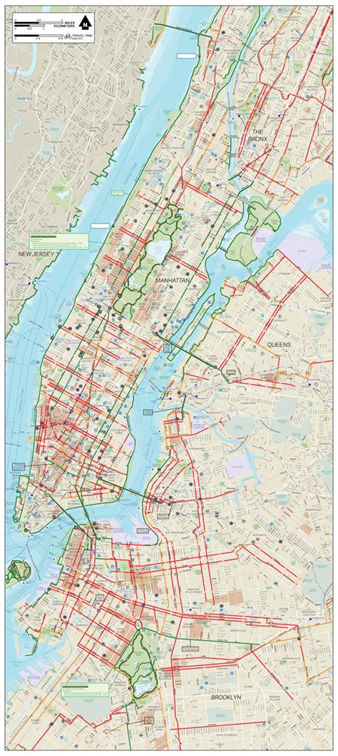 nyc bike map large detailed new york manhattan bronx and bike map vidiani maps of