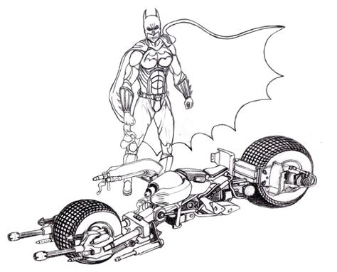 batman motorcycle coloring page how to draw batman motorcycle