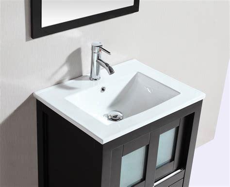 alec 24 inch modern freestanding espresso bathroom vanity